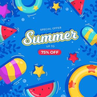 Concept de vente d'été design plat