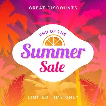 Concept de vente d'été de fin de saison