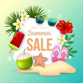 Concept de vente d'été réaliste