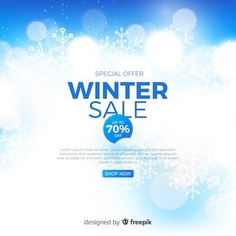 Concept de vente floue d'hiver