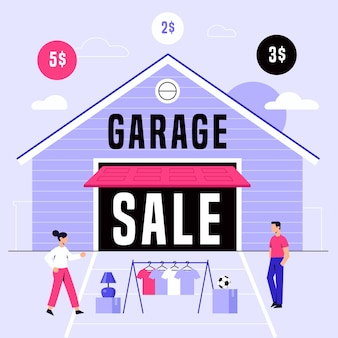 Concept de vente de garage