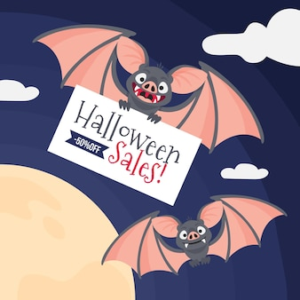 Concept de vente halloween design plat