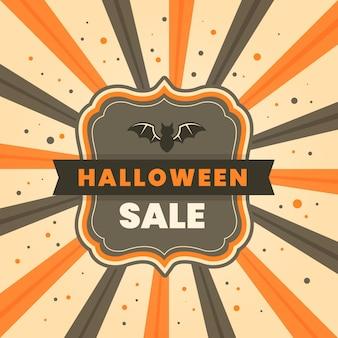 Concept de vente halloween vintage