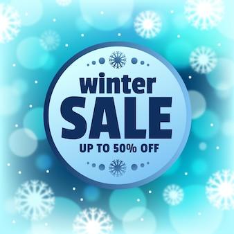 Concept de vente d'hiver floue