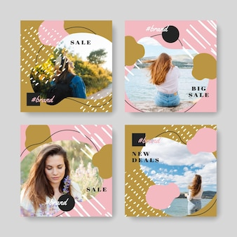 Concept de vente instagram de vente biologique