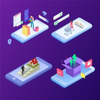 Concept de vente en ligne, achats en ligne, marketing digital