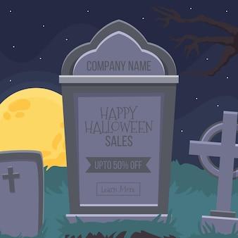 Concept de vente plat halloween