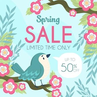 Concept de vente de printemps dessiné à la main