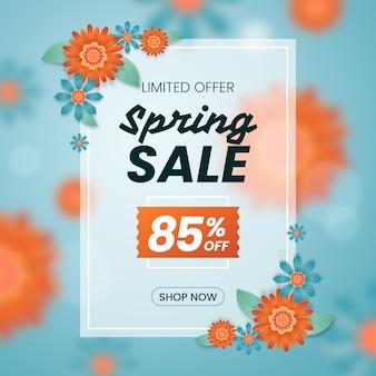 Concept de vente de printemps floue