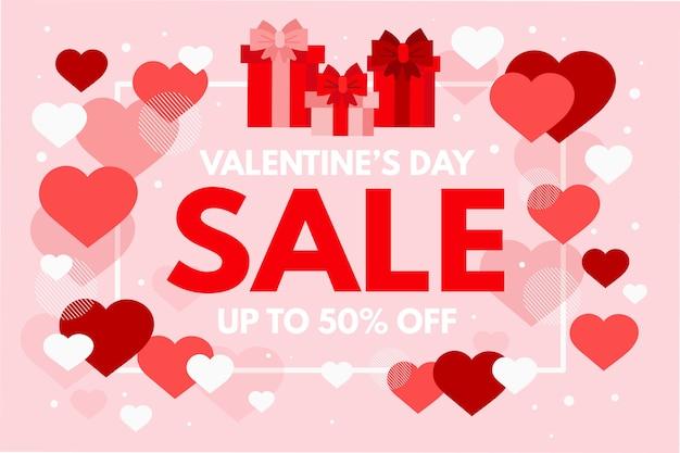 Concept de vente promotionnelle de la saint-valentin