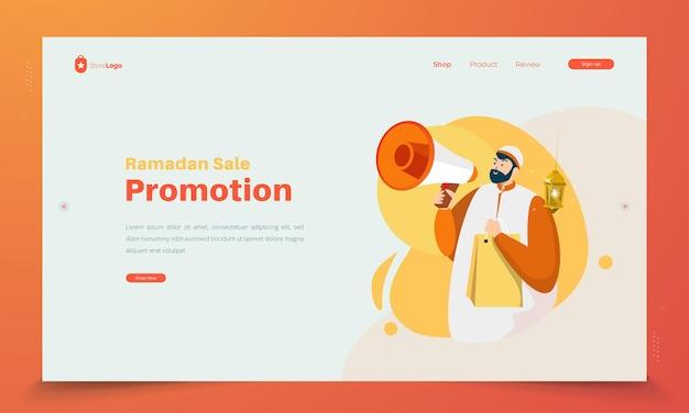 Concept de vente shopping promotion ramadan
