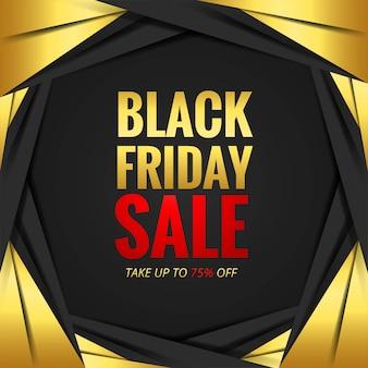 Concept de vente vendredi noir avec vague de carte de réduction