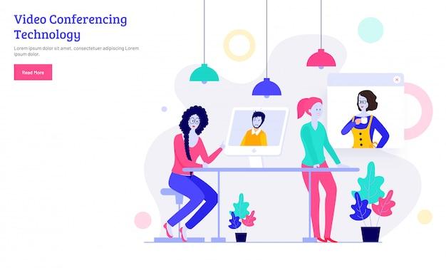 Concept de vidéoconférence en ligne