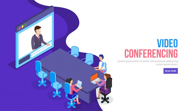 Concept de vidéoconférence