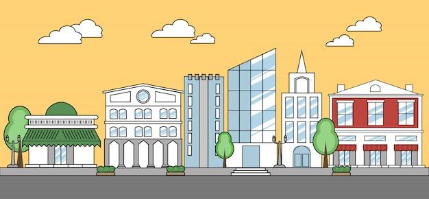 Concept de ville de ligne