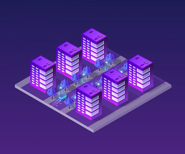 Concept de ville ultra isométrique