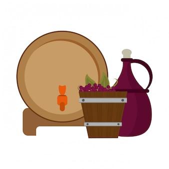 Concept vin et gastronomie