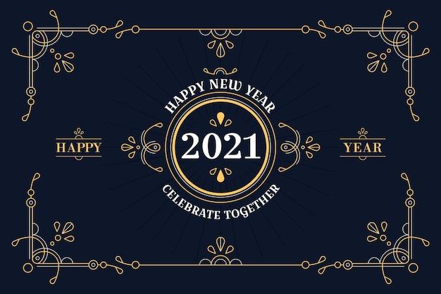 Concept vintage du nouvel an 2021