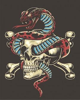 Concept vintage de tatouage coloré