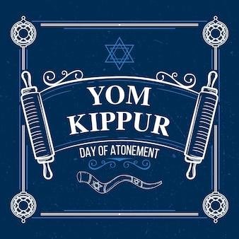 Concept vintage de yom kippour