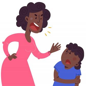 Le concept de violence et d'abus dans la famille