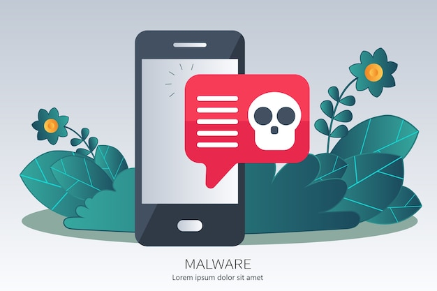 Concept de virus, piratage, piratage et sécurité