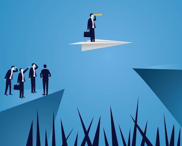 Concept de vision future homme d'affaires