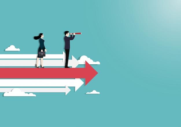 Concept de vision des gens d'affaires