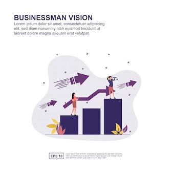 Concept de vision d'homme d'affaires