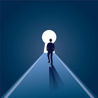 Concept de vision homme d'affaires