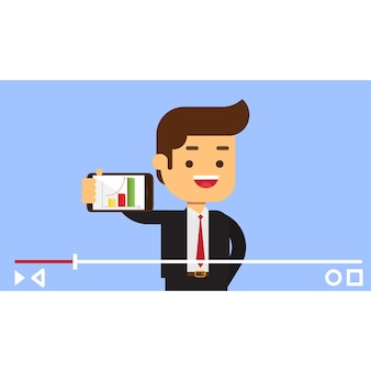 Concept de vlogger d'affaires