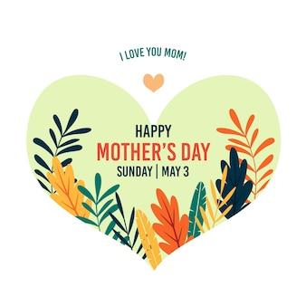 Concept de voeux pour la fête des mères