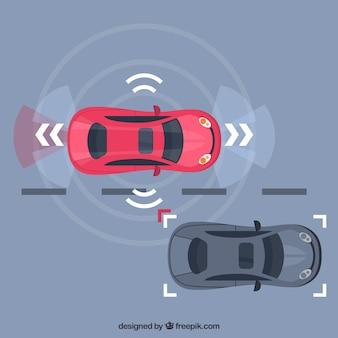 Concept de voiture autonome avec un design plat