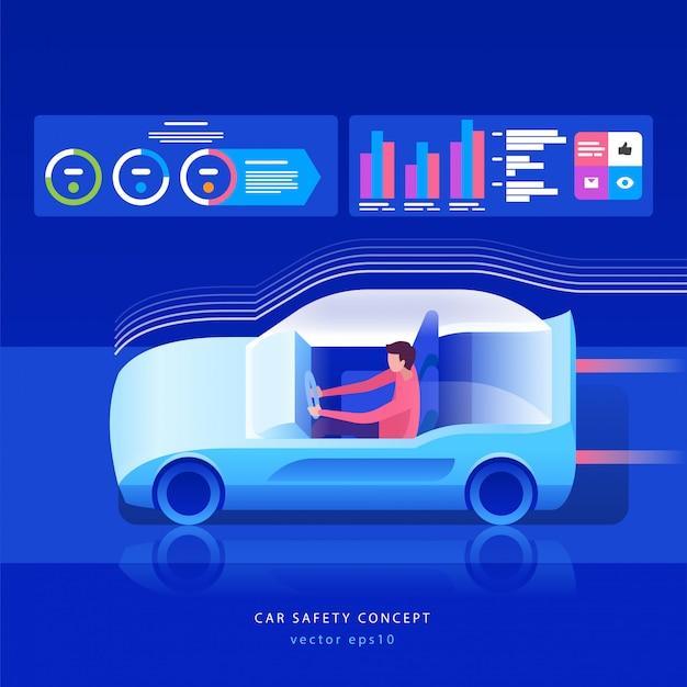 Concept de voiture du futur.