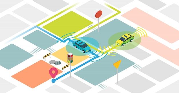 Concept de voitures autonomes