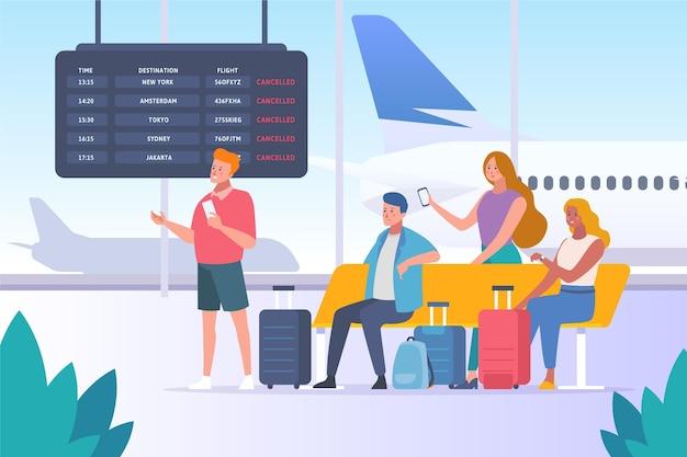 Concept de vol annulé