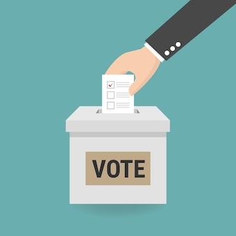 Concept de vote dans le style plat.