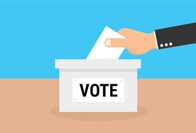 Concept de vote dans le style plat