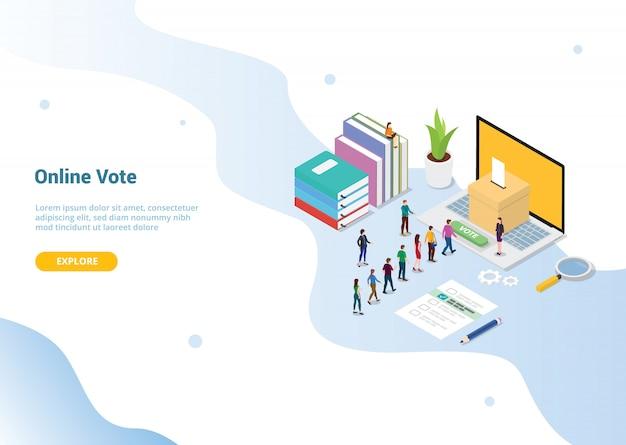 Concept de vote pour le modèle de site web ou la page d'accueil de destination