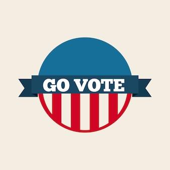 Concept de vote présidentiel américain