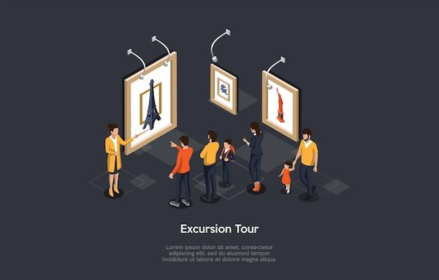 Concept de voyages et d'excursions, de circuits et d'attractions