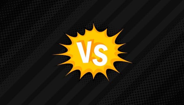 Concept vs. contre. bats toi. conception de style bande dessinée de fond rétro avec demi-teinte, foudre.