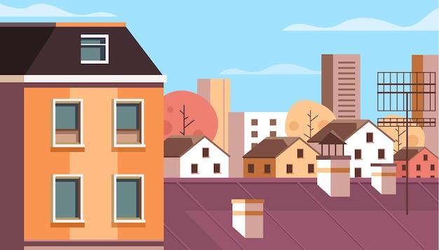 Concept de vue sur le toit de la ville