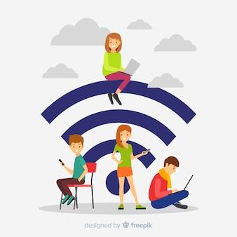 Concept wifi plat