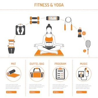 Concept de yoga et de remise en forme