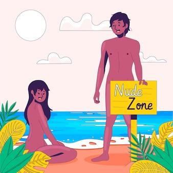Concept de zone nue plate illustré