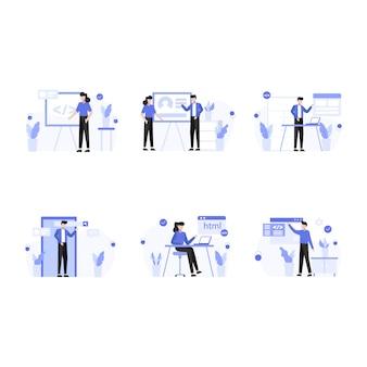 Les concepteurs recherchent, créent et présentent des sites web et des illustrations d'applications