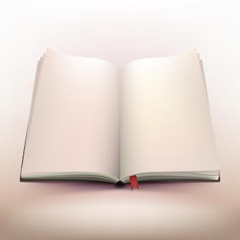 Conception 3d de cahier ouvert