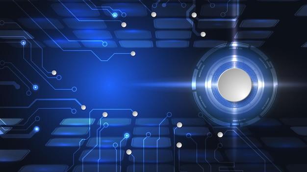 Conception 3d de vecteur de cercle de papier avec circuit électrique. réseau numérique de haute technologie, communications, haute technologie. eps 10.