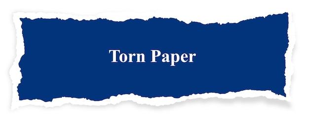 Conception abstraite de bannière de papier déchiré bleu